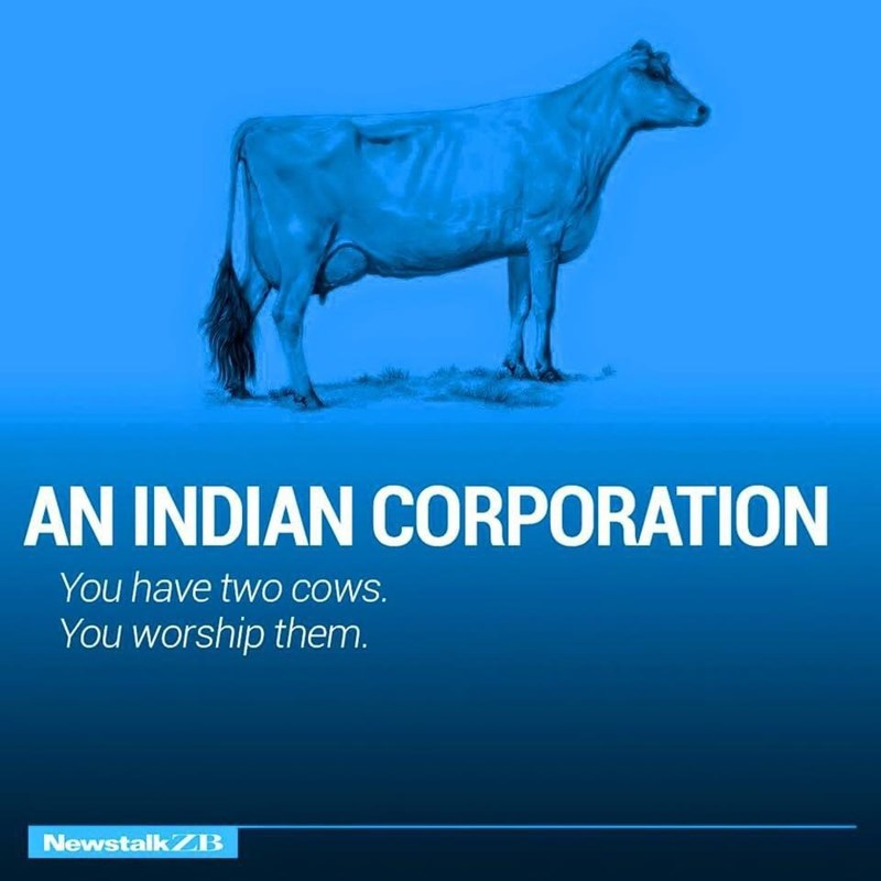 Water - AN INDIAN CORPORATION You have twO COWS. You worship them. NewstalkZB