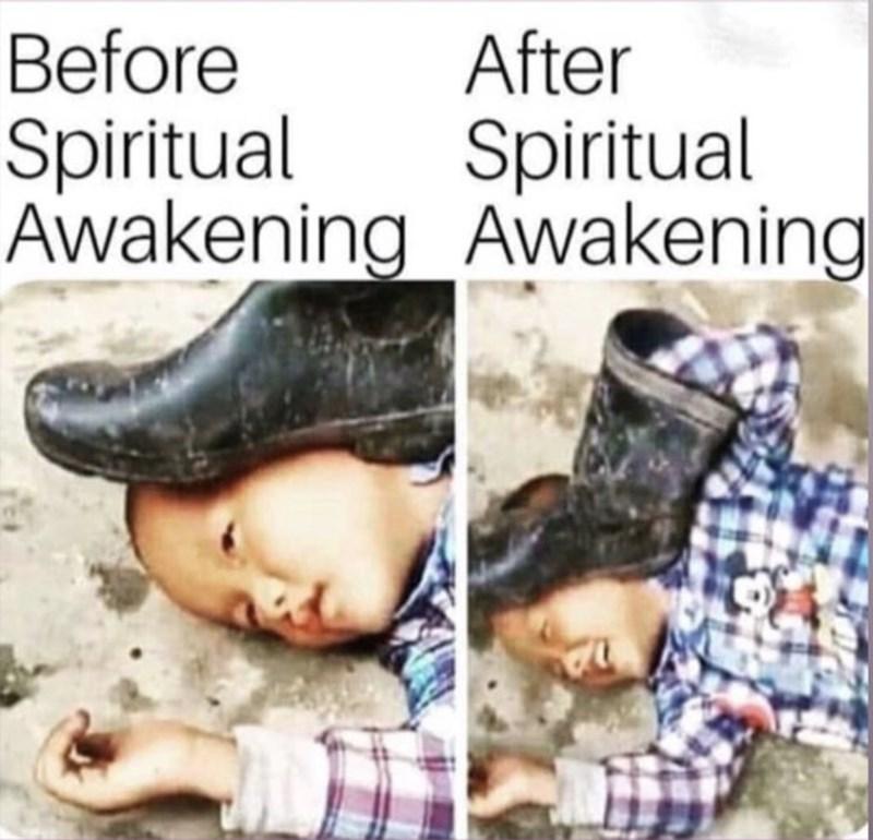 Text - Before Spiritual Awakening Awakening After Spiritual