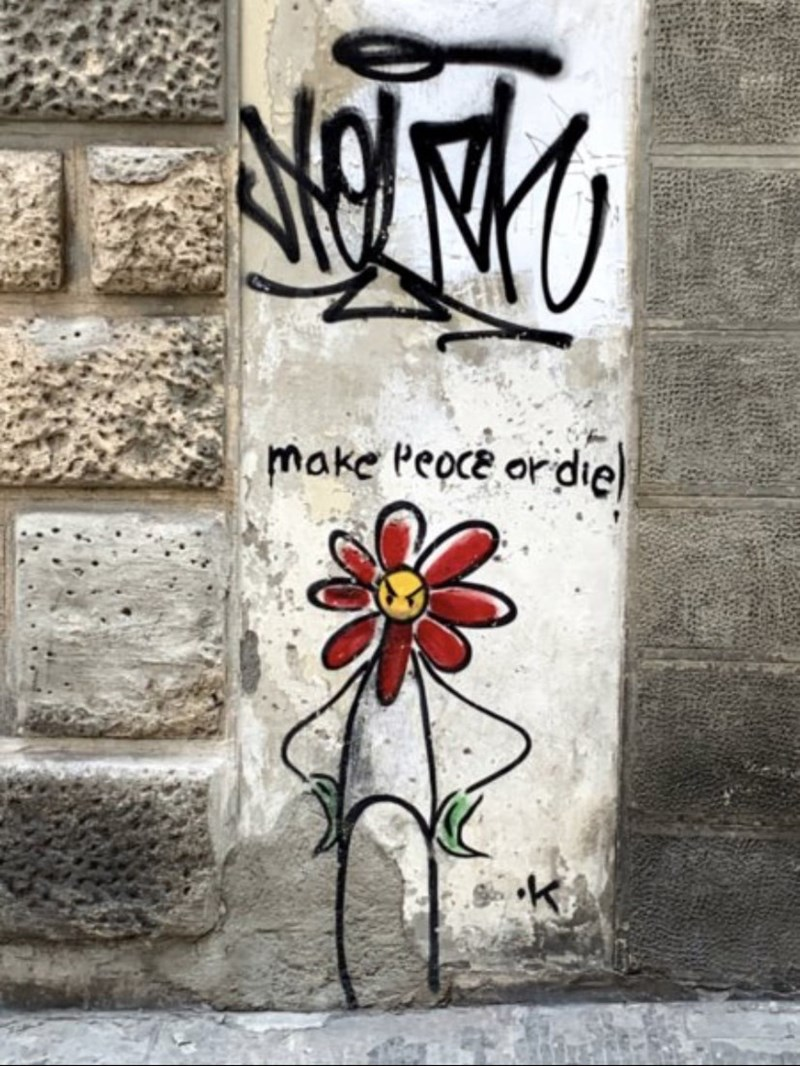 Street art - make Peoce or die