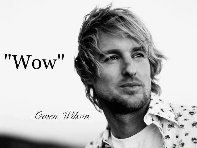 """Text - """"Wow"""" - Owen Wilson"""