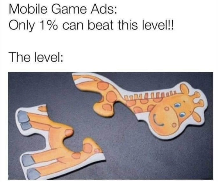Product - Mobile Game Ads: Only 1% can beat this level! The level: