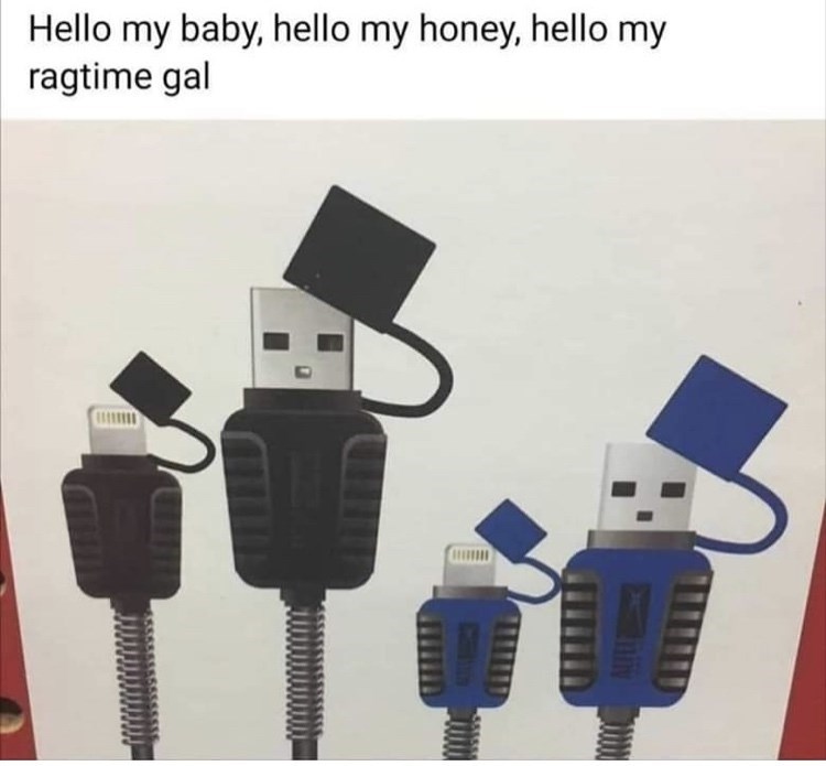 Cable - Hello my baby, hello my honey, hello my ragtime gal Iniy