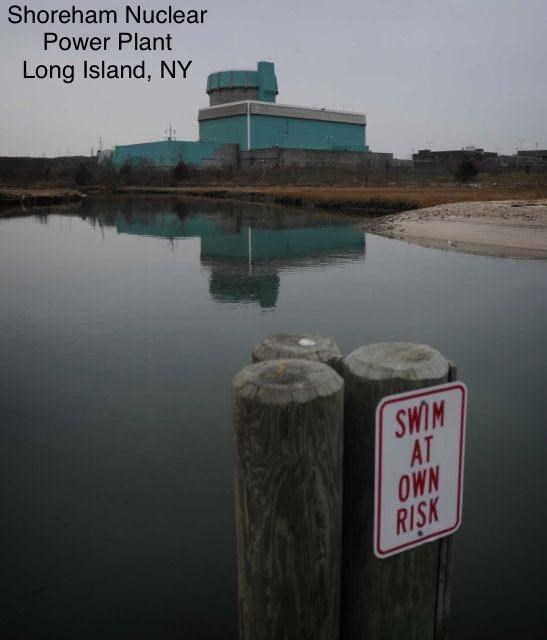 Water - Shoreham Nuclear Power Plant Long Island, NY SWIM AT OWN RISK
