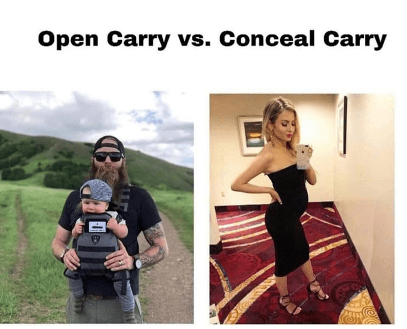 Photography - Open Carry vs. Conceal Carry