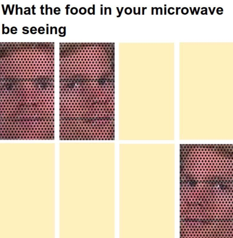 Text - What the food in your microwave be seeing