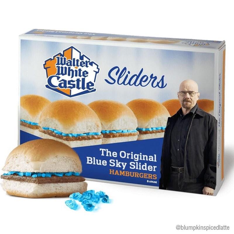 Food - Walter White Castle Sliders The Original Blue Sky Slider HAMBURGERS 8 count @blumpkinspicedlatte gna 0udere