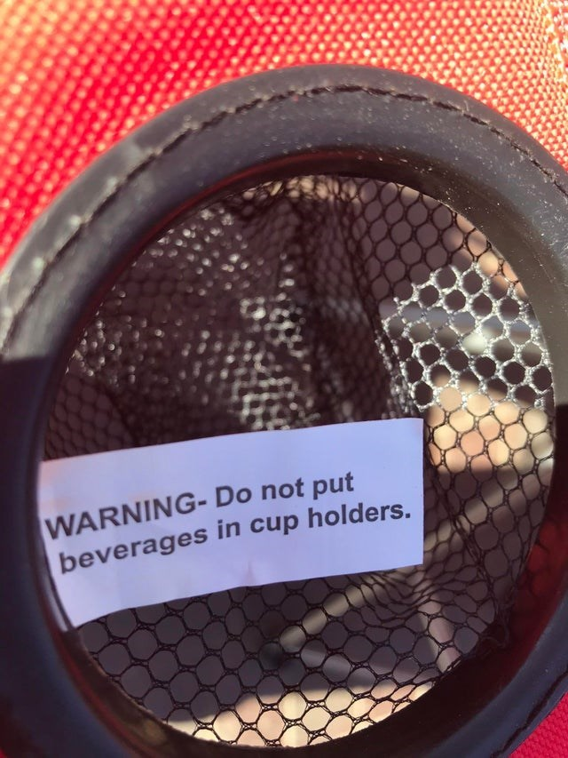 Tire - WARNING- Do not put beverages in cup holders.
