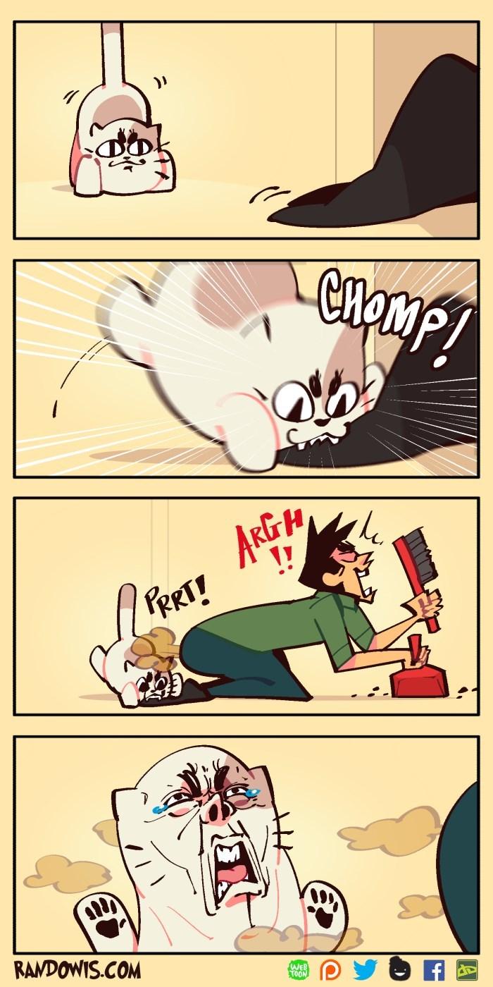 Cartoon - CHOMP! ARGH !! he PRRT! RANDOWIS.COM WEB TOON