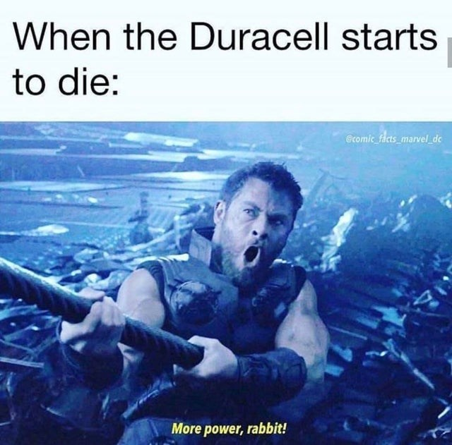 Album cover - When the Duracell starts to die: Gromic_facts_marvel_dc More power, rabbit!