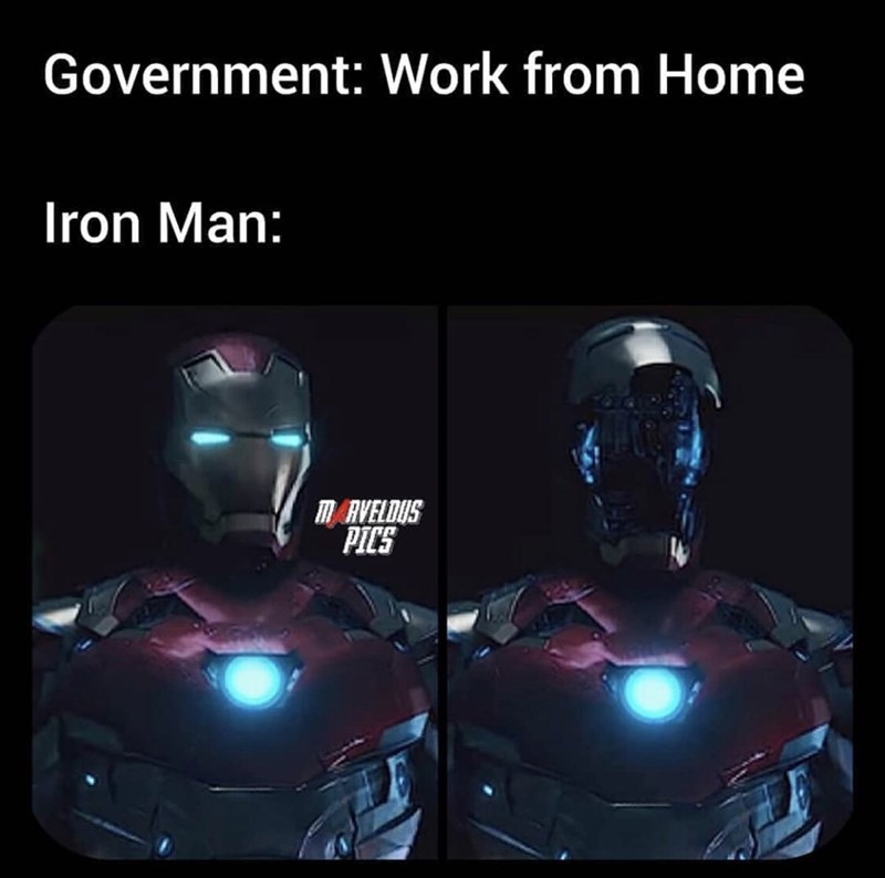 Fictional character - Government: Work from Home Iron Man: m AVELDUS PICS
