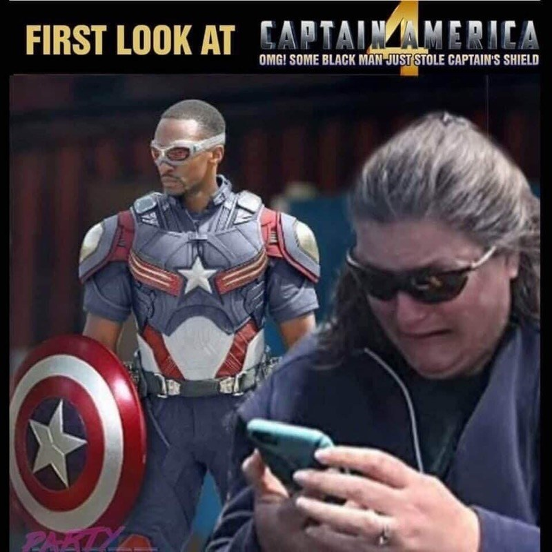 Captain america - FIRST LOOK AT CAPTAINAMERICA OMG! SOME BLACK MAN JUST STOLE CAPTAIN'S SHIELD PAEL