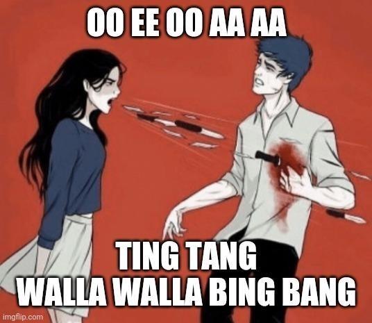 Cartoon - 00 EE 00 AA AA TING TANG WALLA WALLA BING BANG imgflip.com