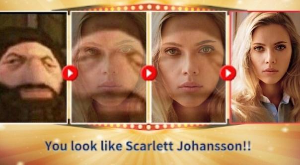 Face - You look like Scarlett Johansson!!
