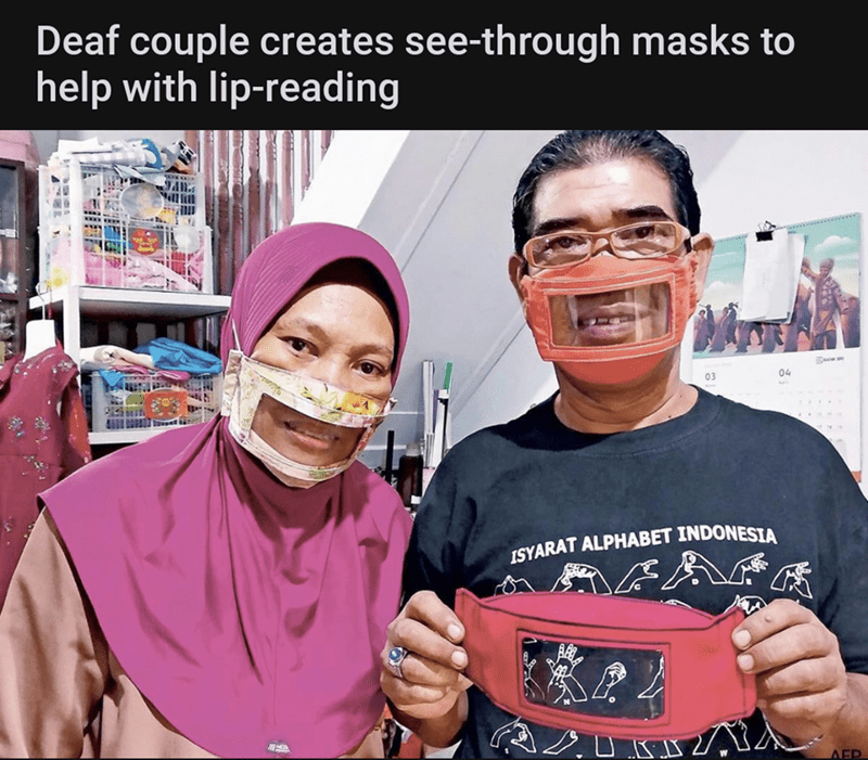 Face - Deaf couple creates see-through masks to help with lip-reading 03 04 ISYARAT ALPHABET INDONESIA