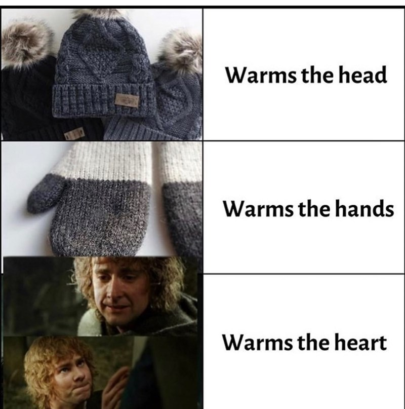 Clothing - Warms the head Warms the hands Warms the heart