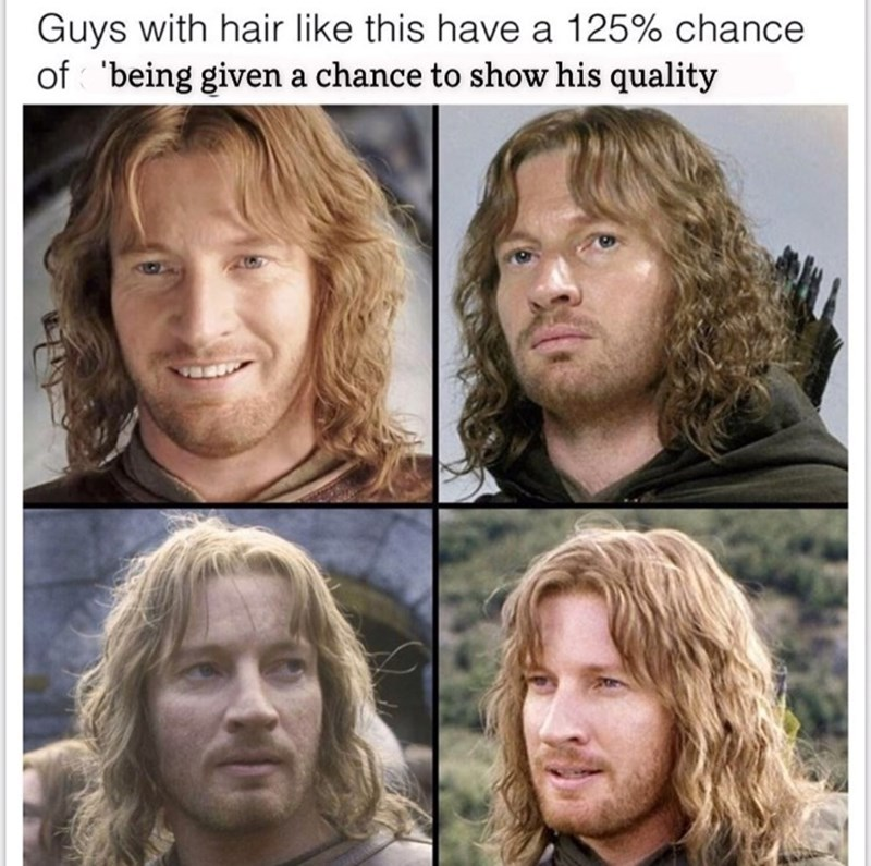 Hair - Guys with hair like this have a 125% chance of 'being given a chance to show his quality