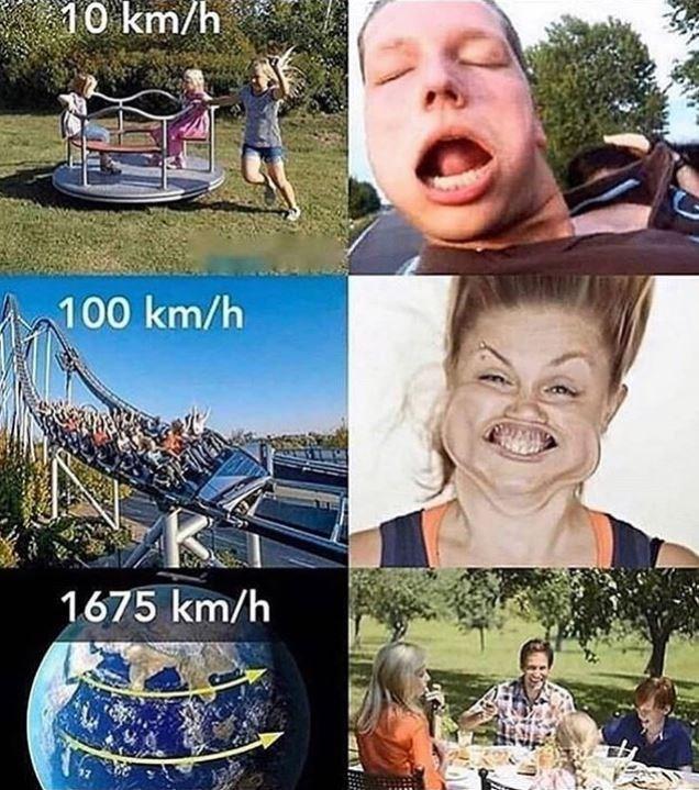 Facial expression - 10 km/h 100 km/h 1675 km/h