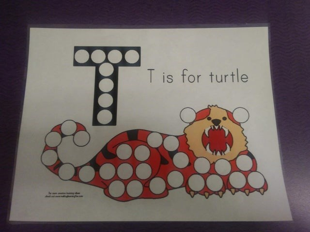 Text - T is for turtle