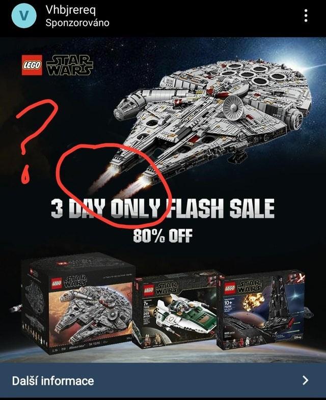 Font - Vhbjrereq Sponzorováno STAR WARS LEGO 3 DAY ONLY FLASH SALE 80% OFF LEGO UAR WARS STAR WARS STTAR WARS LEGO LEGO 10+ Hase 249 Další informace