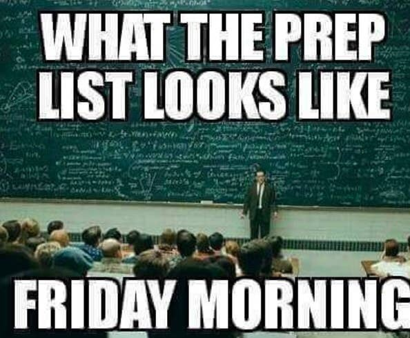 People - WHAT THE PREP LIST LOOKS LIKE FRIDAY MORNING