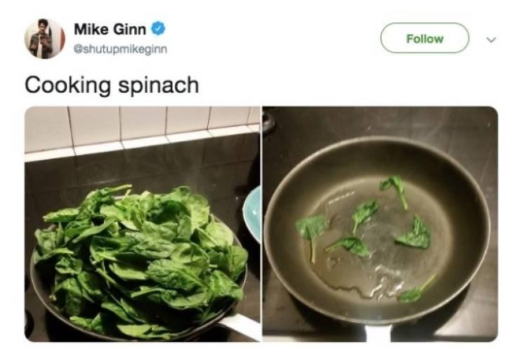 Food - Mike Ginn Follow @shutupmikeginn Cooking spinach