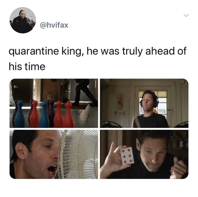 Face - @hvifax quarantine king, he was truly ahead of his time