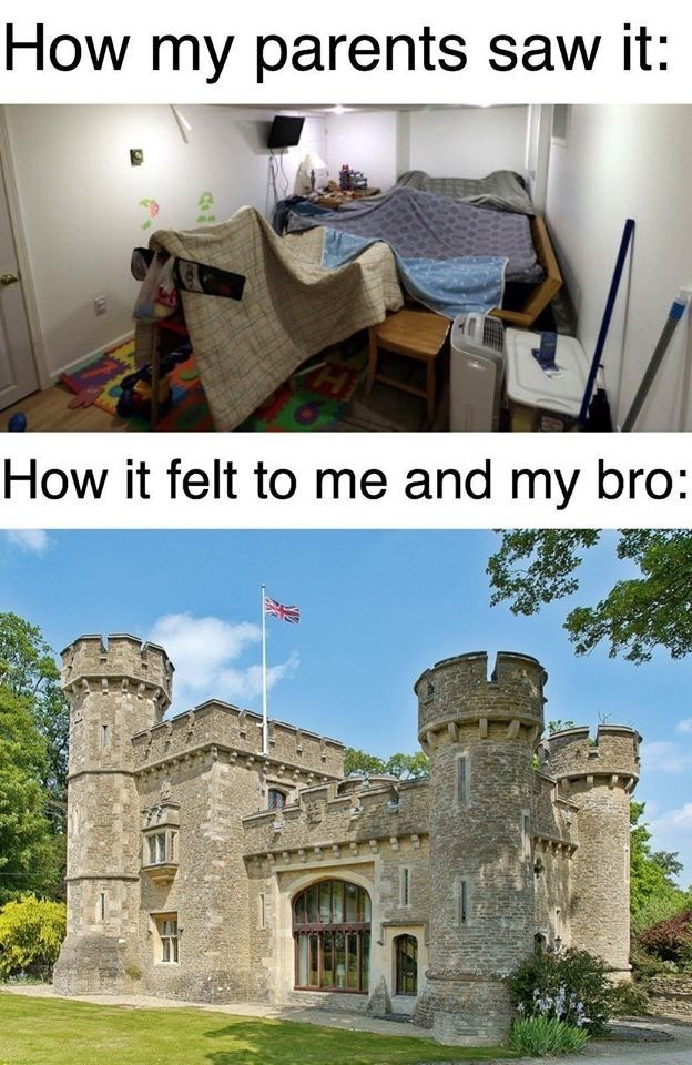 Property - How my parents saw it: How it felt to me and my bro:
