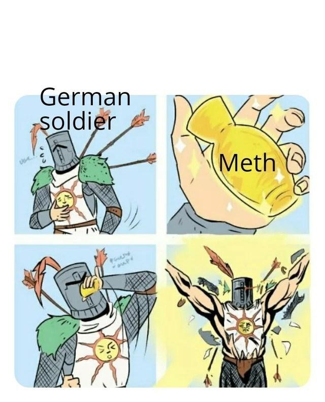 Cartoon - German şoldier Meth O