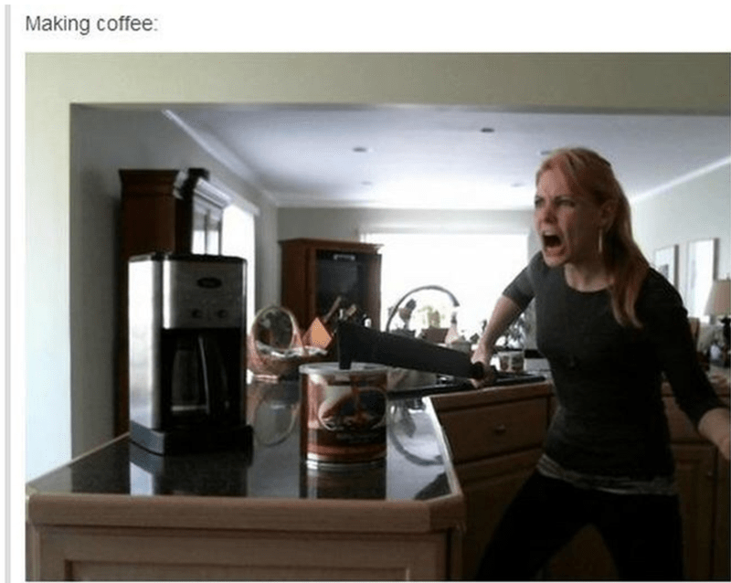 Room - Making coffee:
