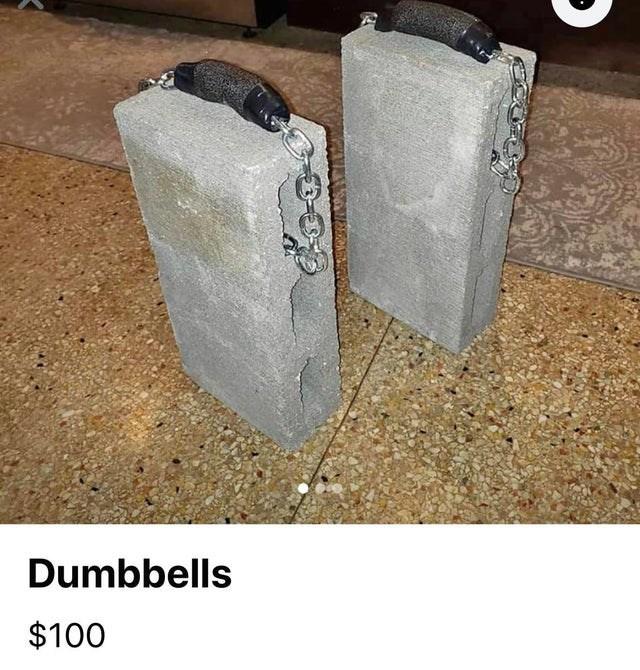 Concrete - Dumbbells $100