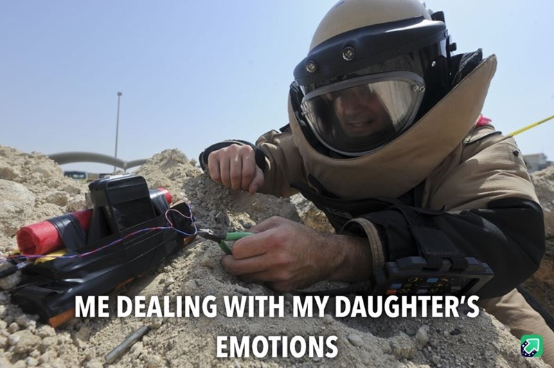 Helmet - ME DEALING WITH MY DAUGHTER'S EMOTIONS