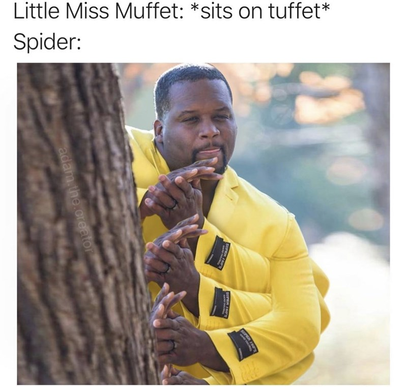 Adaptation - Little Miss Muffet: *sits on tuffet* Spider: adam.the.creator