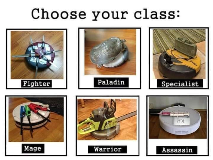 Glass - Choose your class: Fighter Paladin Specialist HIV Mage Warrior Assassin