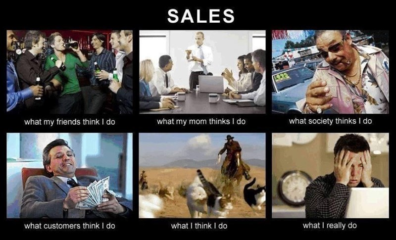 Adaptation - SALES what my friends think I do what my mom thinks I do what society thinks I do what customers think I do what I think I do what I really do