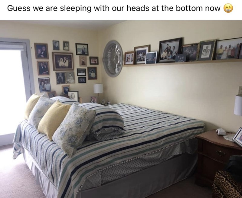 Bedroom - Guess we are sleeping with our heads at the bottom now