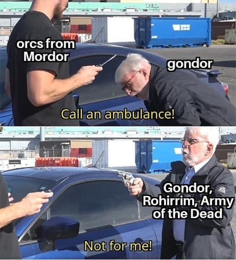 Vehicle door - orcs from Mordor gondor Call an ambulance! Gondor, Rohirrim, Army of the Dead Not for me!