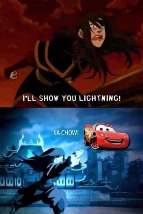 Animated cartoon - I'LL SHOW YOU LIGHTNING! KA-CHOW!