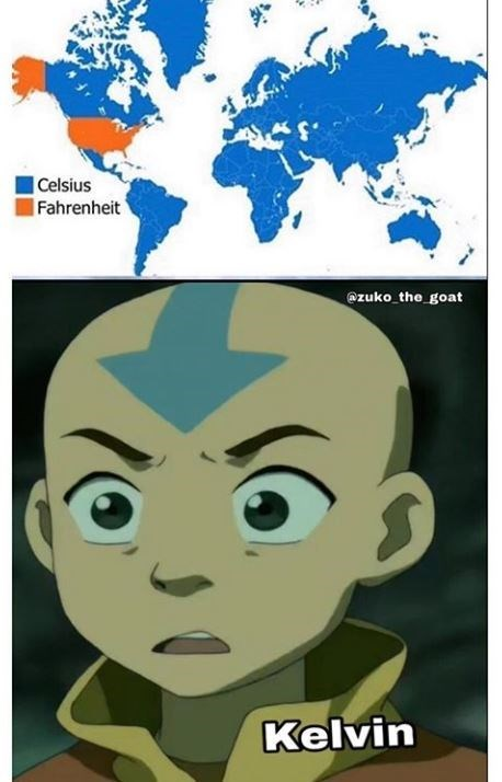 Cartoon - Celsius Fahrenheit Azuko the goat Kelvin