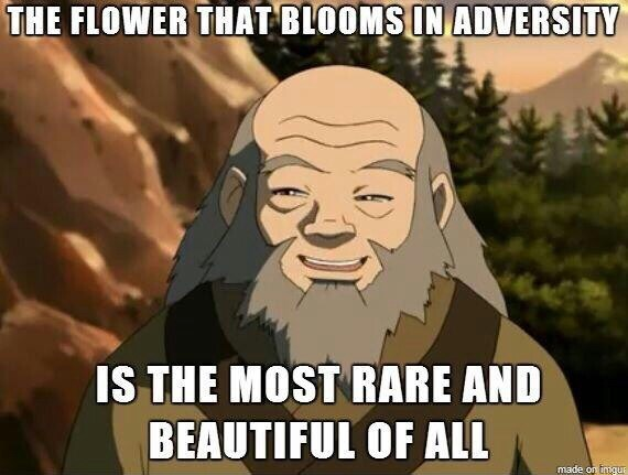 Cartoon - THE FLOWER THAT BLOOMS IN ADVERSITY IS THE MOST RARE AND BEAUTIFUL OF ALL made on tngur