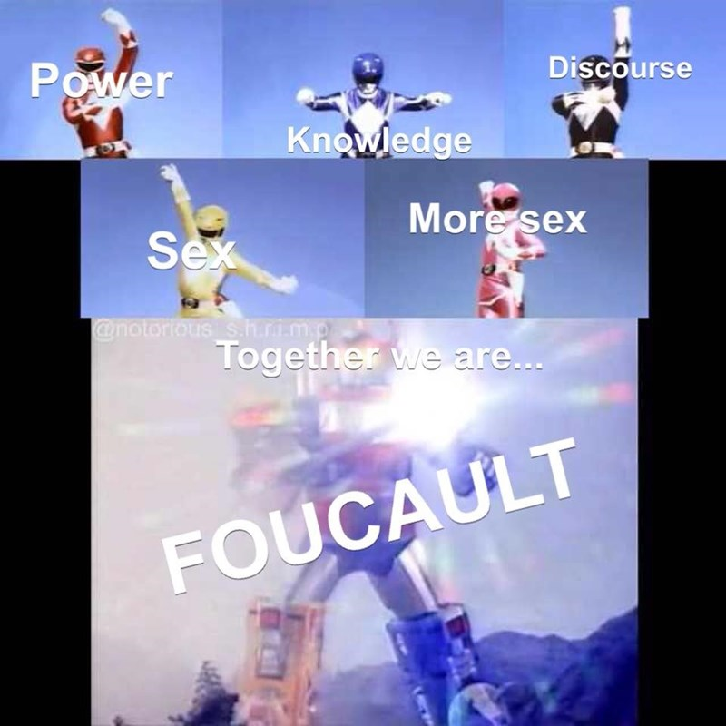 Sky - Power Discourse Knowledge More sex Sex @notorious s.h.ri.m.p Together we are... FOUCAULT