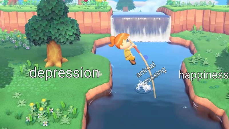 Adventure game - depression animal crossing happiness
