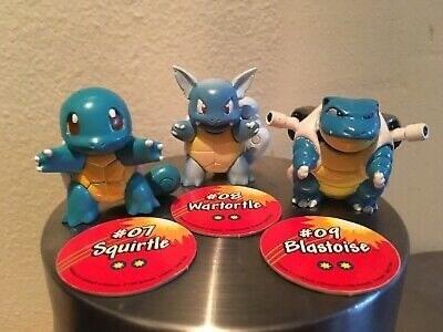 Toy - Wartortle #07 Squirtle #09 Blastoise