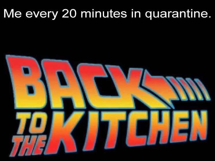 Text - Me every 20 minutes in quarantine. BACK HKITCHEN TO