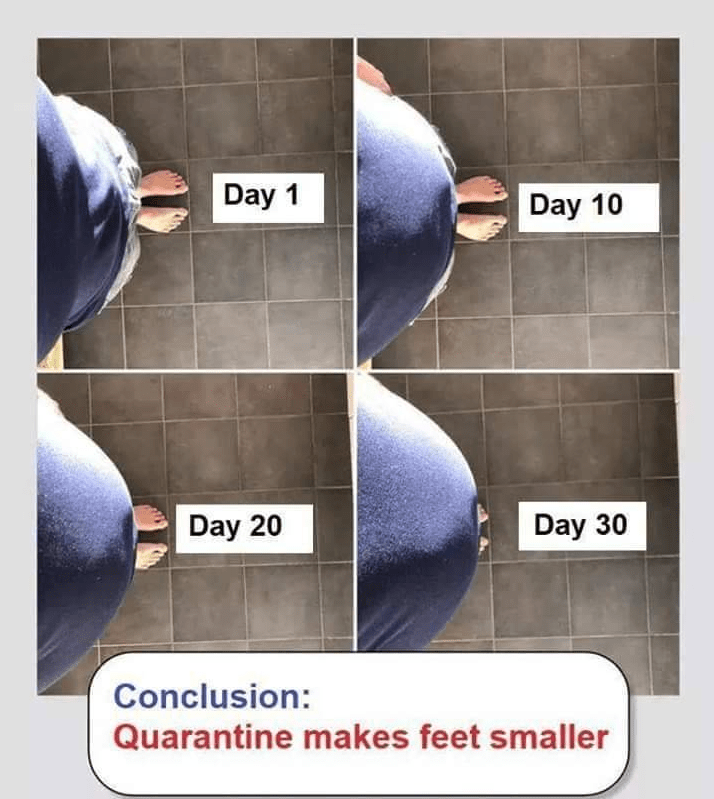 Material property - Day 1 Day 10 Day 20 Day 30 Conclusion: Quarantine makes feet smaller