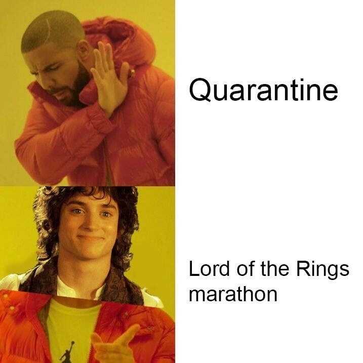 Yellow - Quarantine Lord of the Rings marathon