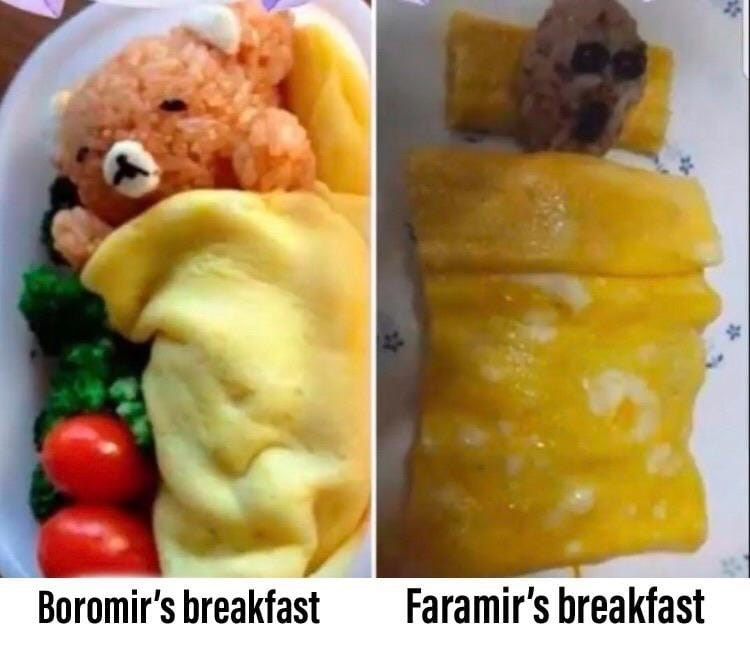 Food - Boromir's breakfast Faramir's breakfast