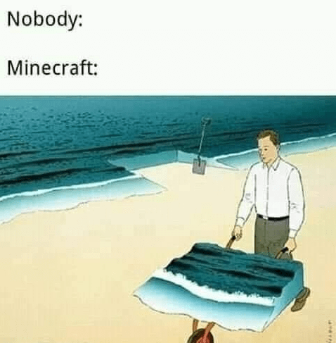 Cartoon - Nobody: Minecraft: