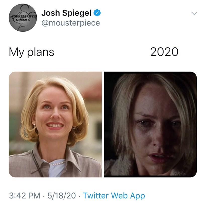 Face - Josh Spiegel @mousterpiece MOUSTERPIECE CINEMA My plans 2020 3:42 PM · 5/18/20 · Twitter Web App