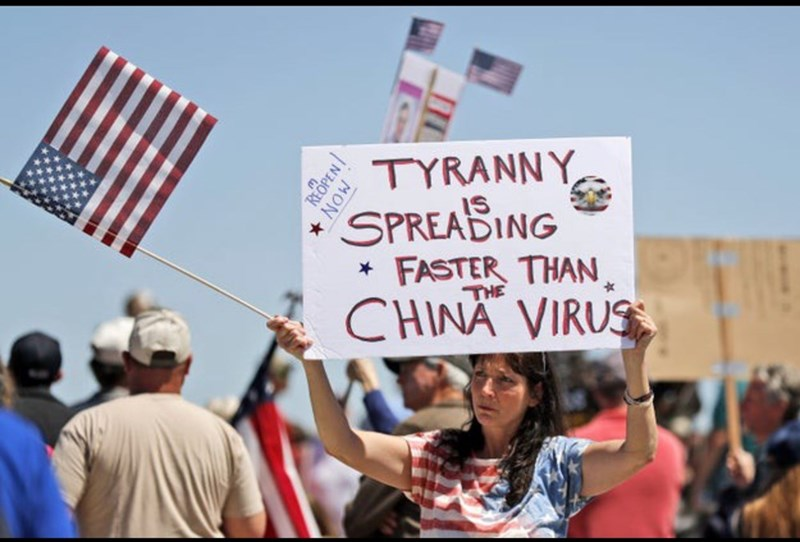 Protest - TYRANNY SPREABING FASTER THAN CHINA VIRUS IS THE REOPEN * NOW