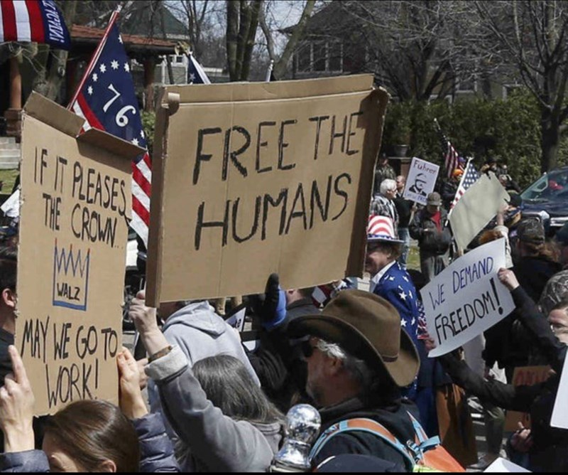 Protest - :76 FREE THE IF T RERSES Fuhrer THE CROM HUMANS MALZ WE DENAND NY KE GO TO LORK! FREEDOM! ZICHA